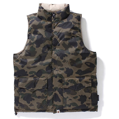 Bape camo reversible vest