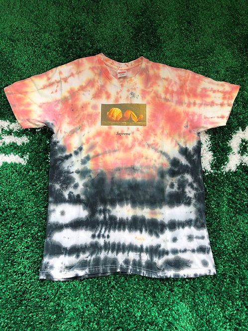 "Supreme Orange Peel teeTie dye ""Pre-Owned"