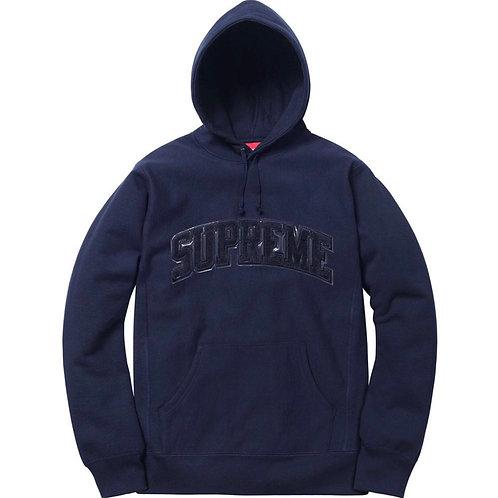 Supreme tent leather arc logo hooded sweatshirt