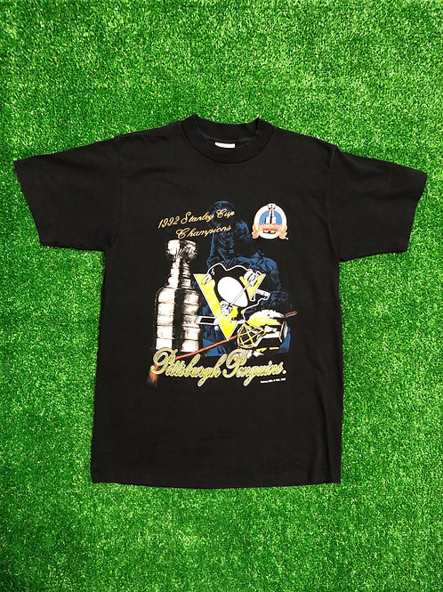 Vintage 1992 Pittsburgh Penguins Championship tee