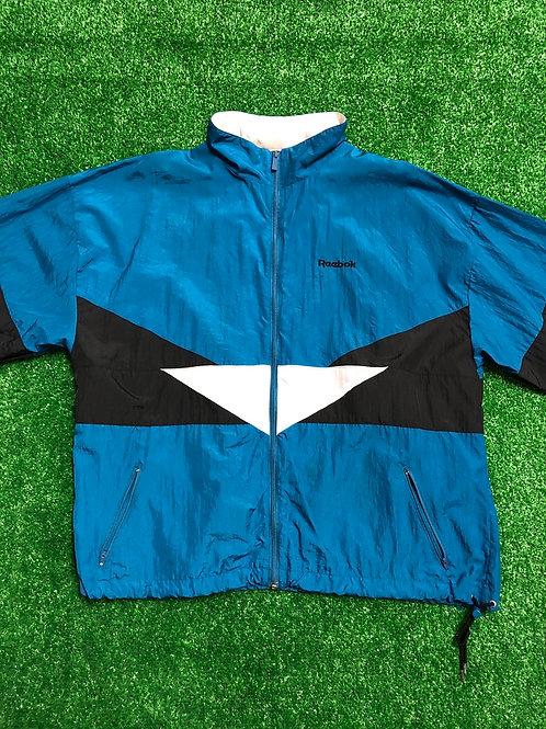 Vintage Reebok Windbreaker Jacket Hoodie in Collar