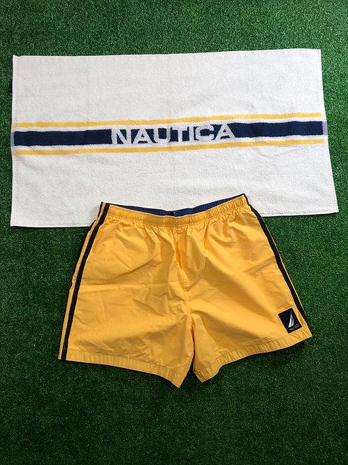 Vintage Nautica Swim trunks & towel