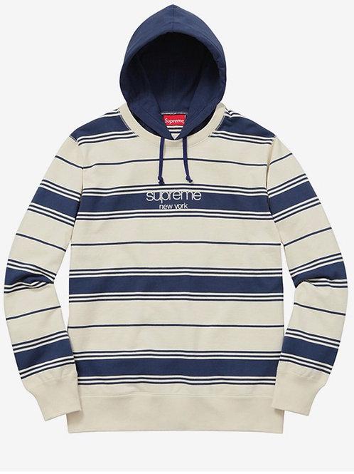 Supreme stripe hooded sweatshirt