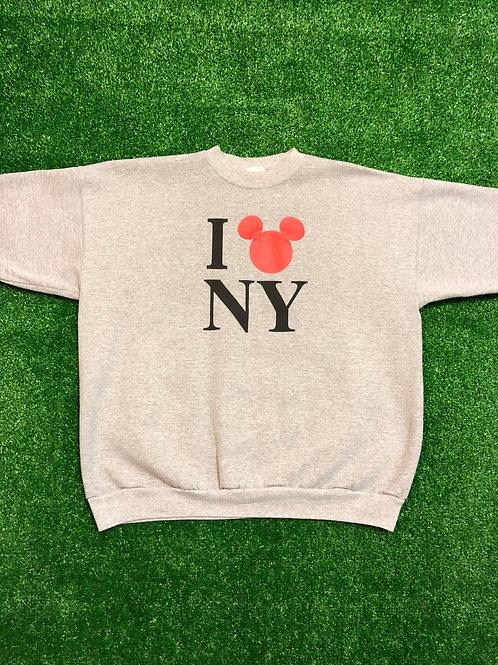 Vintage Disney I ❤️ NY Sweat Shirt