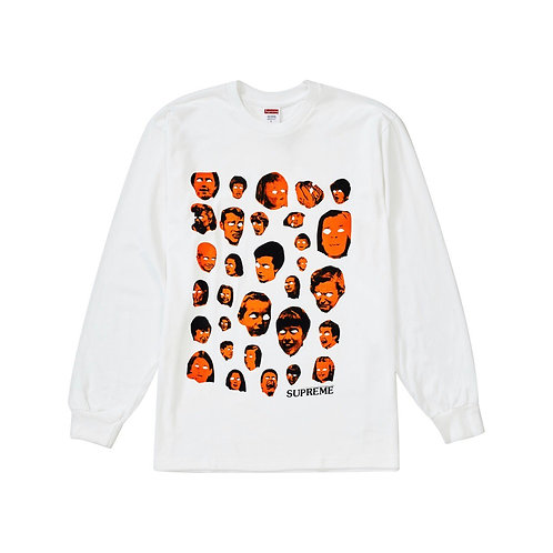 Supreme faces L/S tee