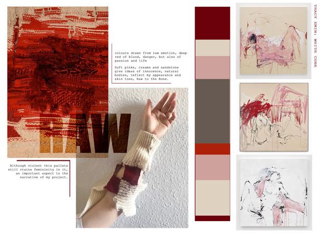 colour board 1: Raw