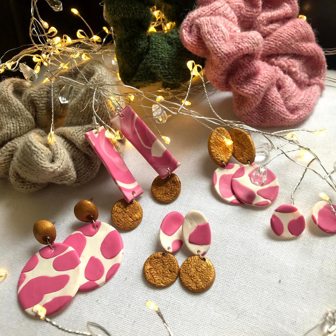 strawberry cow earrings