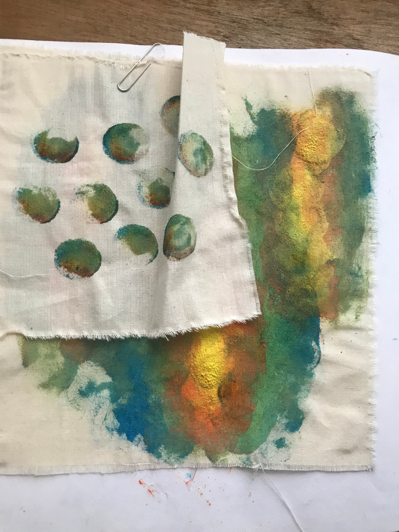 creating texture with colour mixing
