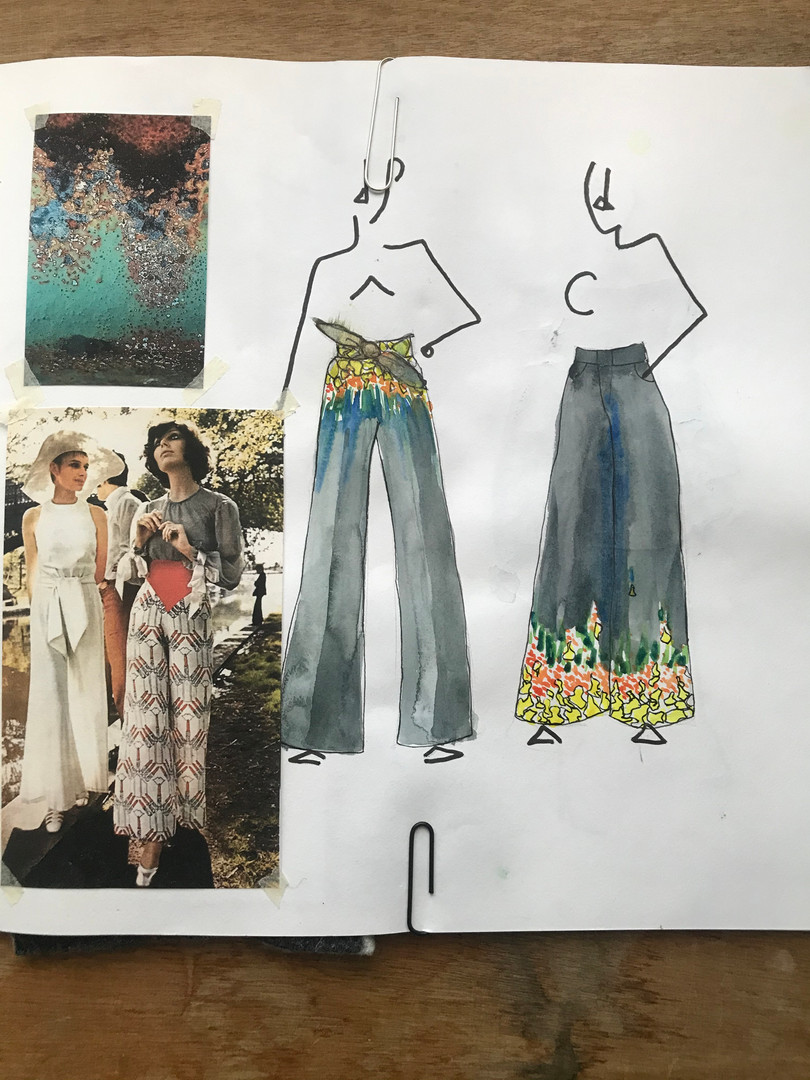 playing with garments, scale and placement