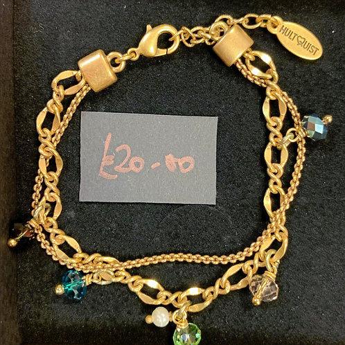 Layered gold bracelet