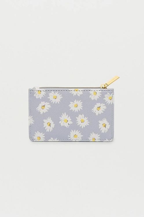 Estella Bartlett - Wildflower Rectangle Card Purse - Daisy Print Blue