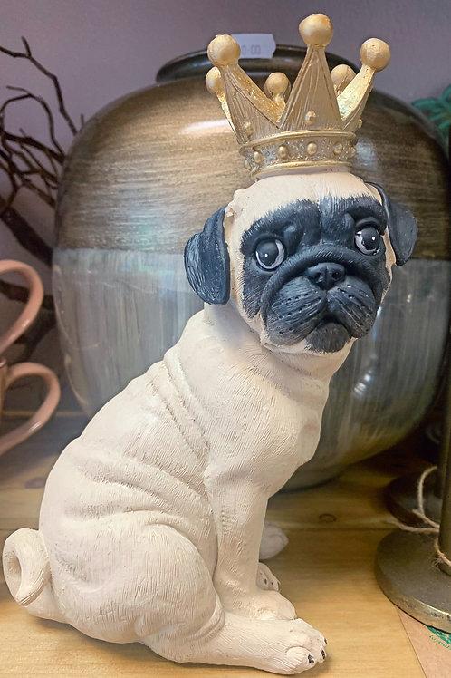 King Pug figurine