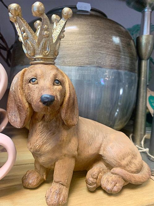 King Dachshund figurine
