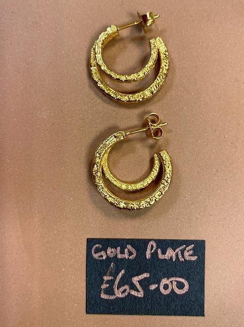 Double City hoop earrings