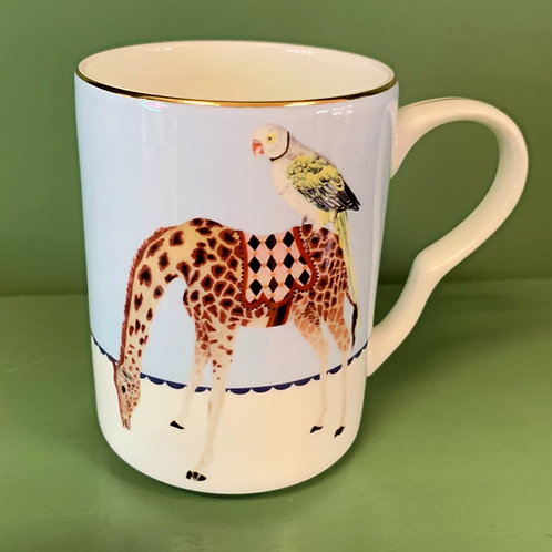 Parrot and Giraffe Mug