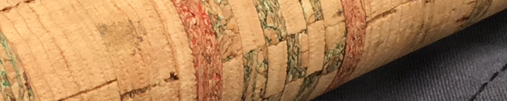 Checkered cork grip