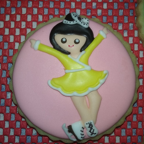 Gymnast and Skater Cookies