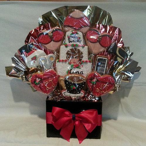 Hairdresser Theme Birthday Cookie Bouquet