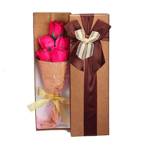5 pce Rose Soap Bouquet