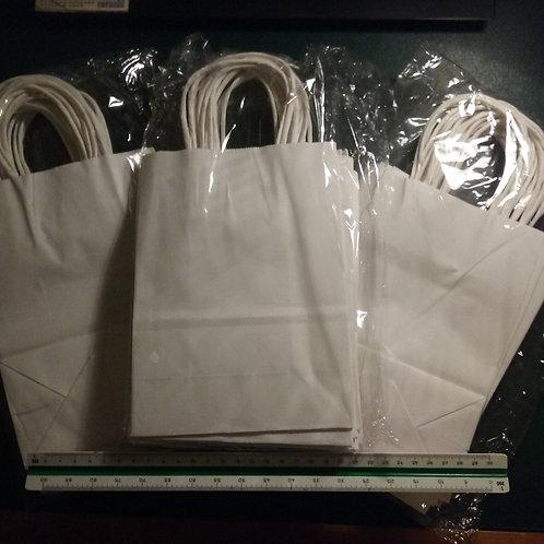 White Kraft Gloss Gift Bags