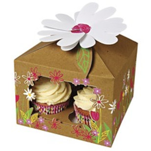 Floral 4 Cup Cake Box