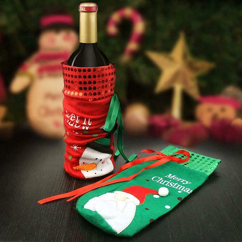 Xmas Themed Wine Bottle Covers