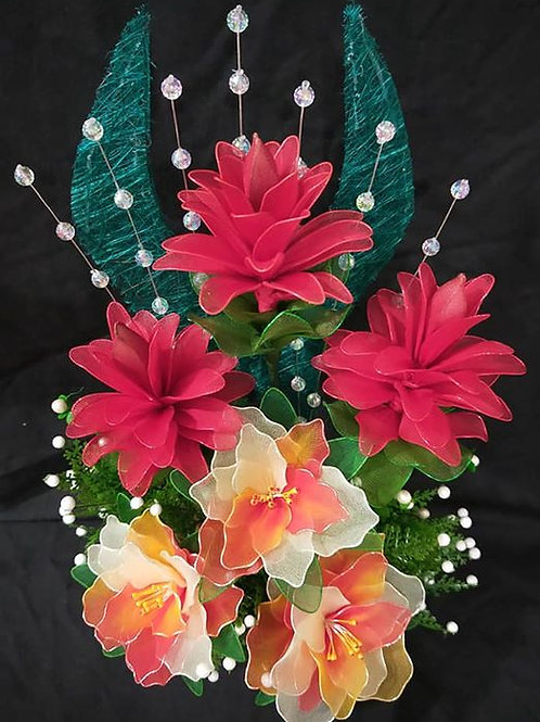 Artificial Hibiscus & Ginger Lily