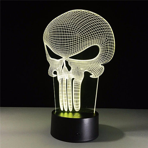 Punisher Skull 3D LED Lamp