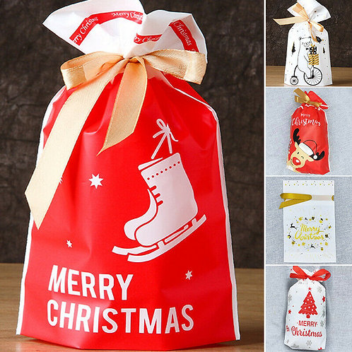 Christmas Theme Drawstring Pouches