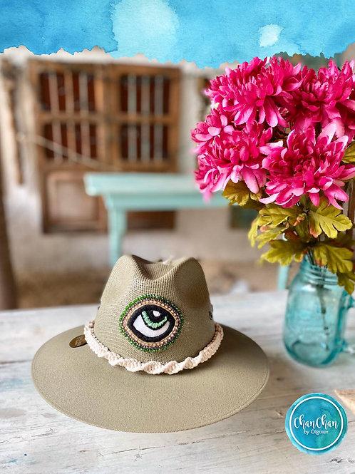 Sombrero lona, ala ancha