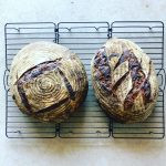 2 soughdough loaves from our workshop