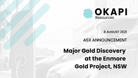 Major Gold Discovery at the Enmore Gold Project, NSW