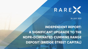Independent Report - A significant upgrade to the NdPr-dominated Cummins Range deposit