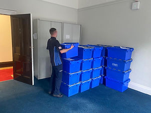 Crates being moved by RHR