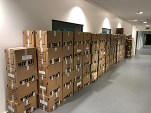 boxes in hall at commercial move