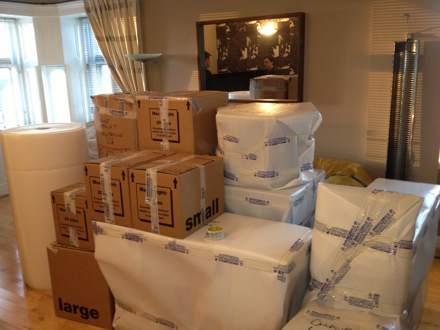 Furniture overseas wrapped