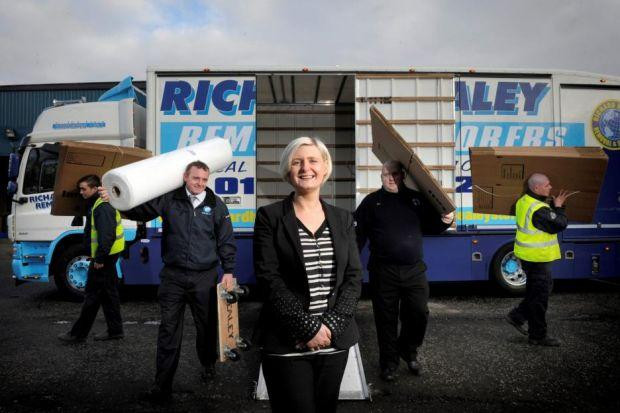 DRIVING FORWARD: Georgina Berry said that family company Richard Healey Removals wants to take on more employees, particularly apprentices. Picture: Kirsty Anderson