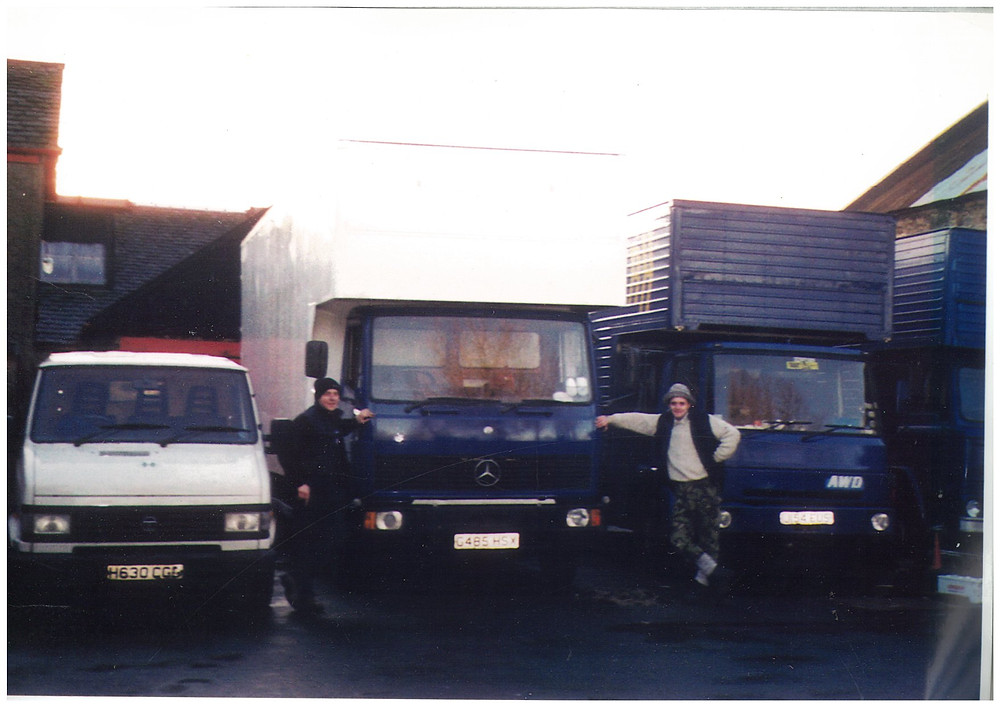 Barry and Richard with the old fleet in 1999