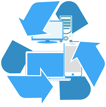 IT Disposal Recycling Icon