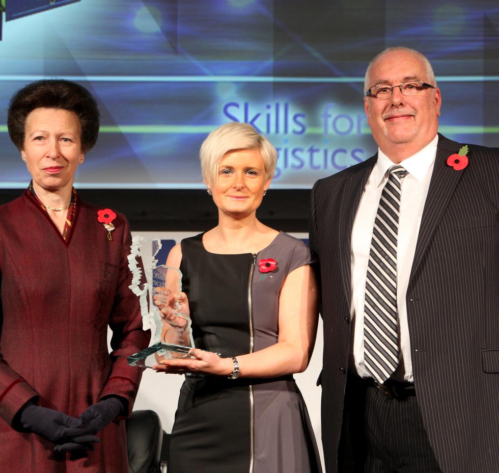 Princess Anne Presenting transport award