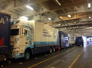 Richard Healey DAF Truck on Ferry