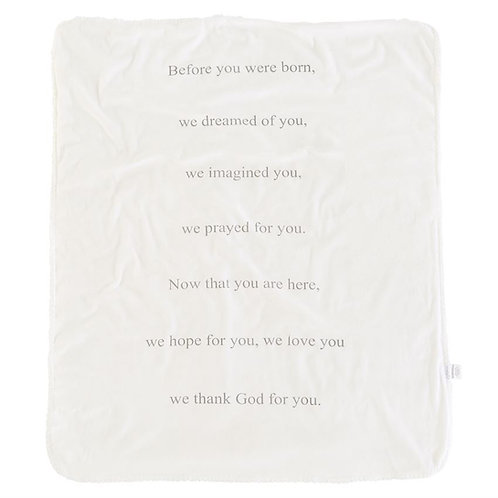 Prayer Sherpa Blanket