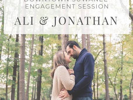 Downtown Suwanee Engagement Session Ali and Jonathan | Hello Jude Photography