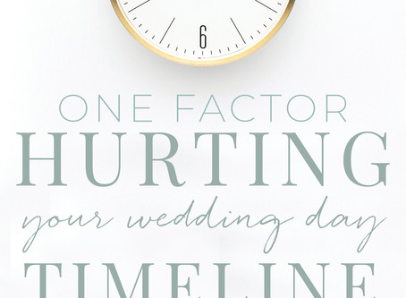 One factor that can make or break your wedding day timeline and tips to help