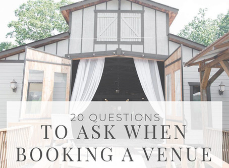 20 Questions: Venue Edition
