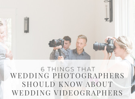 6 Things Wedding Photographers Should Know About Videographers