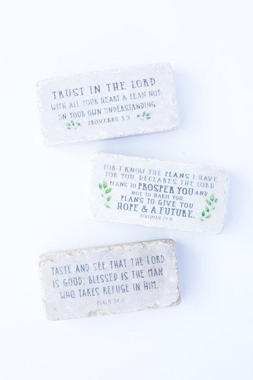 Scripture Stones Half Block