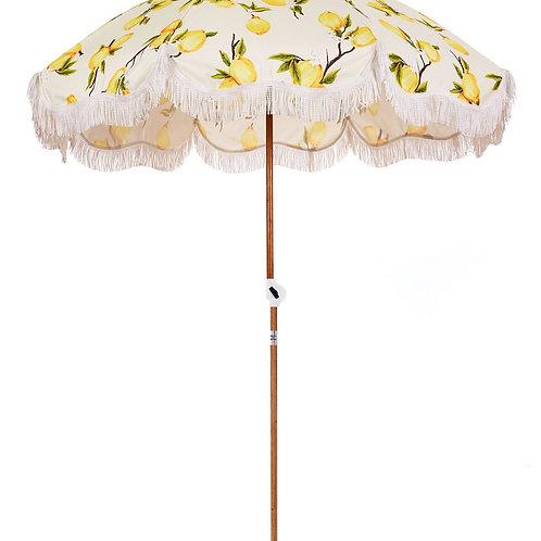 Business & Pleasure Co. - Holiday Beach Umbrella - Vintage Lemons - 5.5' W x 6'