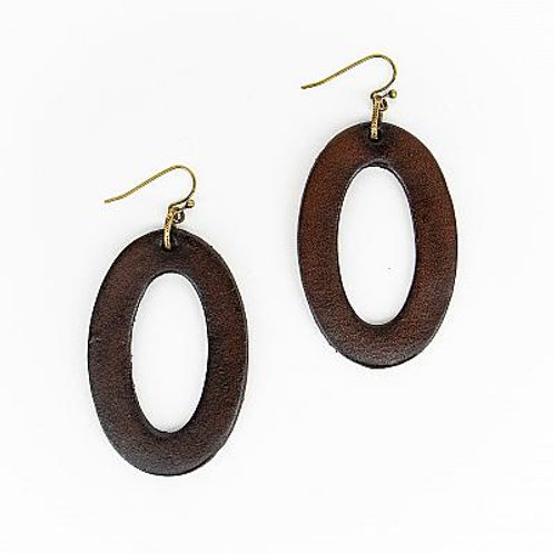 Brown Large Oval