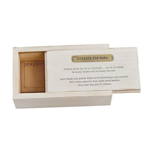 Wooden Baby Prayer Box Set